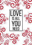 Ia tutto che di amore abbiate bisogno di Fotografie Stock Libere da Diritti