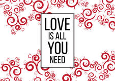 Ia tutto che di amore abbiate bisogno di Fotografia Stock Libera da Diritti