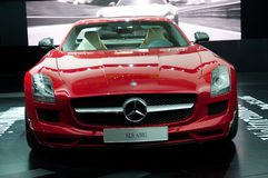IAA Frankfurt. FRANKFURT - SEPTEMBER 20: New Mercedes Benz SLS AMG sportcar on the 63rd IAA (Internationale Automobil Ausstellung) on September 20 Stock Images