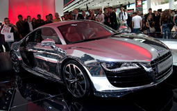 IAA Frankfurt. FRANKFURT - SEPTEMBER 20: New Audi R8 5.2 Quattro concept on 63rd IAA (Internationale Automobil Ausstellung) on September 20, 2009 in Germany Stock Photography
