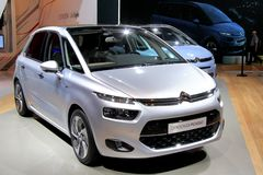 IAA 2013. FRANKFURT AM MAIN, GERMANY - SEPTEMBER 14: French motor car Citroen C4 Picasso exhibited at the annual IAA (Internationale Automobil Ausstellung) on Stock Image