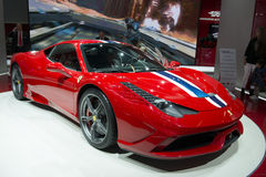 IAA Frankfurt 2013. FRANKFURT - SEPT 16: New Ferrari 458 Speciale shown at the 65th IAA (Internationale Automobil Ausstellung) on September 16, 2013 in Frankfurt Stock Images