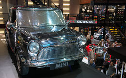IAA Frankfurt 2013. FRANKFURT - SEPT 16: Old Mini shown at the 65th IAA (Internationale Automobil Ausstellung) on September 16, 2013 in Frankfurt, Germany Stock Image