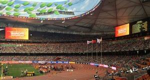 IAAF-världsmästerskap i fågelredet, Peking, Kina Royaltyfria Foton