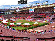 The 2015 IAAF World Athletics Championship opening ceremonies at national stadium in Beijing. The 2015 IAAF World Athletics Championship opening ceremonies on Royalty Free Stock Photo