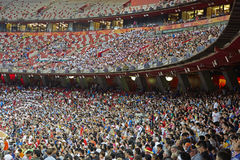 Stadium crowd people texture Royalty Free Stock Photography