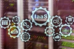 IaaS, Infrastruktur als Service On-line-Internet- und Vernetzungskonzept Diagrammikonen auf einem digitalen Schirm vektor abbildung
