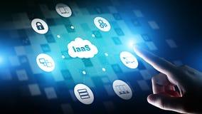 IaaS - Infrastruktur als Service-, Vernetzungs- und Anwendungsplattform Internet und Technologiekonzept vektor abbildung