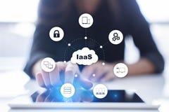 IaaS infrastruktur som en service Internet- och nätverkandebegrepp arkivbilder