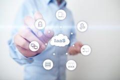 IaaS infrastruktur som en service Internet- och n?tverkandebegrepp royaltyfri bild