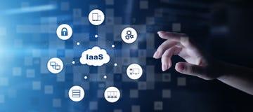 IaaS - infrastruktur som en service-, n?tverkande- och applikationplattform Internet- och teknologibegrepp arkivfoto