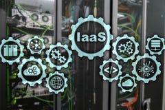 IaaS, infrastruktura jako us?uga Online interneta i networking poj?cie Wykres ikony na cyfrowym ekranie ilustracja wektor