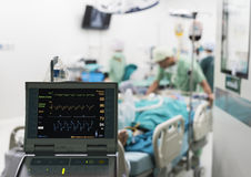 Iabp που χρησιμοποιείται μετά από την ανοικτή χειρουργική επέμβαση καρδιών Στοκ φωτογραφίες με δικαίωμα ελεύθερης χρήσης