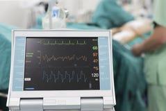 Iabp a employé après la chirurgie cardiaque ouverte Images libres de droits