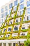 IAC Brings California native plants grace the scuptural facade of 8800 West Sunset Boulevard in West Hollywood Stock Photo