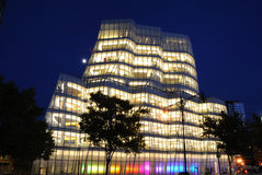 IAC Building. IAC Headquarters, designed by the famed architecture Frank Gehry, is home of the internet company Interactivecorps in Chelsea New York City Royalty Free Stock Photo