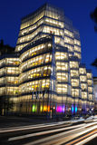 IAC Building. IAC Headquarters, designed by the famed architecture Frank Gehry, is the home of Interactivecorps in Chelsea New York City Royalty Free Stock Photo