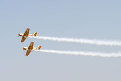 Iacarii Acrobati at Bucharest Air Show Stock Image