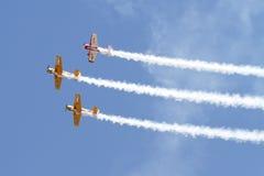 Iacarii Acrobati and Jurgis Kairys Air Show Royalty Free Stock Photos