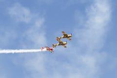 Iacarii Acrobati and Jurgis Kairys Air Show Stock Photos