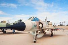 IAF Mirage IIICJ with 13 kill markings. HATZERIM, ISRAEL - JANUARY 02: IAF Dassault Mirage IIICJ fighter jet with 13 kill markings is displayed in Israeli Air Stock Photos