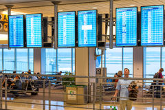 IAH flight information display screens Royalty Free Stock Images
