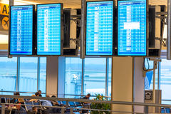 IAH flight information display screens Royalty Free Stock Photography