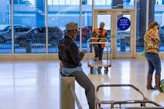 IAH luggage carousel at baggage claim Royalty Free Stock Photo