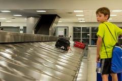 IAH luggage carousel at baggage claim Royalty Free Stock Photos