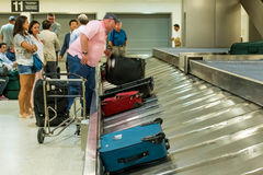 IAH luggage carousel at baggage claim Stock Images