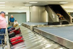 IAH luggage carousel at baggage claim Royalty Free Stock Photo