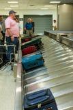 IAH luggage carousel at baggage claim Stock Image
