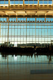 IAH Terminal. A glass wall at Houston's George Bush International Airport Royalty Free Stock Photos