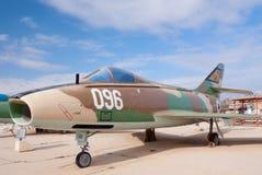 IAI Sa'ar SMB2. HATZERIM, ISRAEL - JANUARY 02: IAI Sa'ar SMB2, the Israeli version of Super Mystere B2 jet, is displayed in Israeli Air Force Museum on January Royalty Free Stock Image