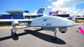 IAI unmanned aerial vehicle at Singapore Airshow Royalty Free Stock Photo