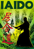 Iaido poster. Vector. Royalty Free Stock Images