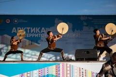 Iakoutsk, Yakutia/Russie 21 mai 2019 : C?l?bration d'un ?v?nement significatif - l'inclusion de huit secteurs de Yakutia dans l'A image stock