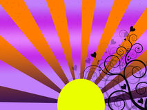 A ial yellow sun Royalty Free Stock Image