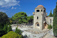 ialyssos修道院 库存图片