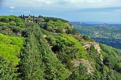 Ialyssos monaster, góra Filerimos, Rhodes, Grecja Obraz Royalty Free