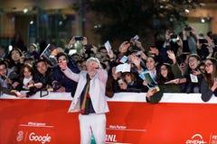 Ian McKellen: Bawić się część czerwonego chodnika - 12th Rzym Ekranowy Fest Zdjęcie Stock