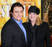 Ian McShane and wife Gwen Humble. British actor Ian McShane and wife actress Gwen Humble arrive on the red carpet for the premiere of Australia at the Ziegfeld Stock Photos