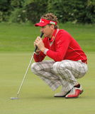 Ian Poulter. England's Ian Poulter, is member of the European Ryder Cup team. Here Ian contemplates his next shot Stock Photos