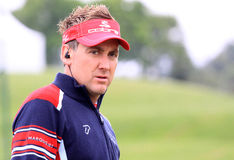 Ian Poulter at the French Open 2012. LE GOLF NATIONAL, PARIS, FRANCE, JULY 05 Stock Image