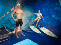Ian Thorpe at Madam Tussaud's at Sydney Stock Image