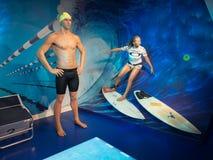 Ian Thorpe przy Madam Tussaud's przy Sydney Obraz Stock