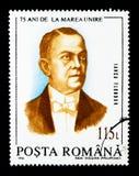 Iancu Flondor, união da Transilvânia com Romênia, 75th Annivers Foto de Stock Royalty Free