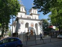 Iancu Vechi Mătăsari教会在布加勒斯特 库存照片