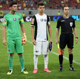 Ianis Hagi. F.C. Viitorul player Ianis Hagi ( C ), son of Gheorghe Hagi pictured before a match against Steaua Bucharest, at National Arena stadium, in Bucharest royalty free stock images