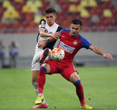 Ianis Hagi. F.C. Viitorul player Ianis Hagi ( L ), son of Gheorghe Hagi  pictured before a match against Steaua Bucharest, at National Arena stadium, in Stock Image